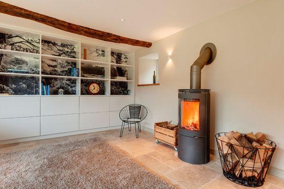 Farmhouse Living Room by van Ellen + Sheryn Architects