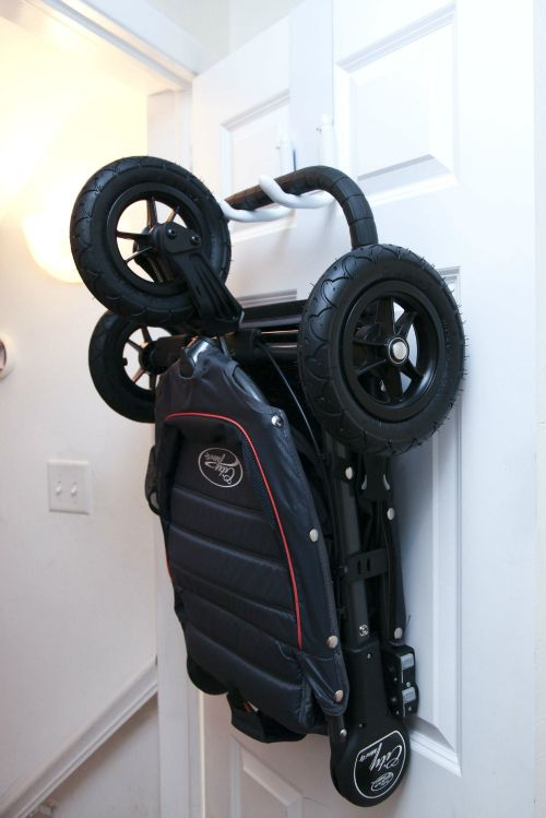 Cool Baby Product: StrollAway Stroller Hanger (such a space-saver!) #babygear