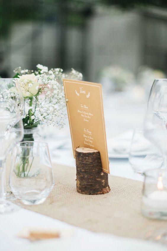 Porte menu rondin de bois deco mariage diy id e d co pinterest deco a - Pinterest deco mariage ...