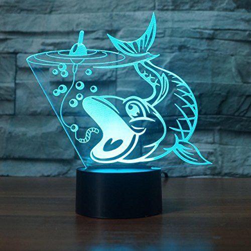 3d Fisch Optische Illusions Lampen Tolle 7 Farbwechsel Acryl Beruhren Tabelle Schreibtisch Nachtlicht Mit Usb Kabel Fur Kinde Nachtlicht Farbwechsel Geschenke