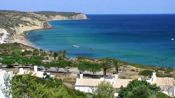 Praia Salema Vila do Bispo Algarve Portugal (HD)