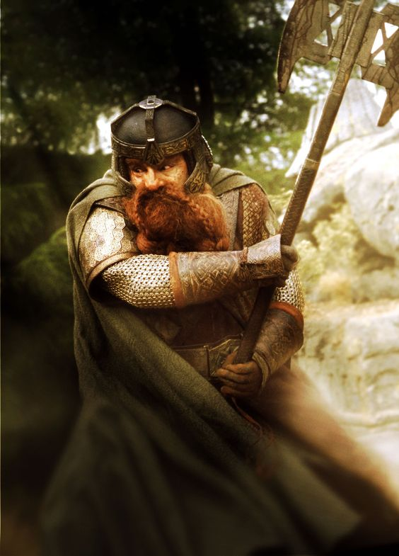 Gimli, son of Gloin - The Lord Of The Rings, played by John Rhys-Davies, who also voiced Treebeard.