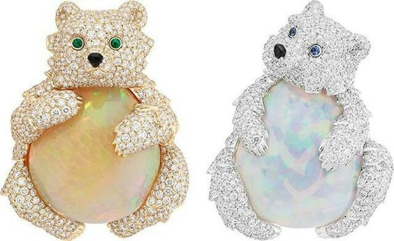 """Van Cleef & Arpels presents its new High Jewellery collection – """"L'Arche de Noé racontée par Van Cleef & Arpels"""" – during the month of September with an exhibition open to the public and free at the Hotel d'Evreux. Bears"""