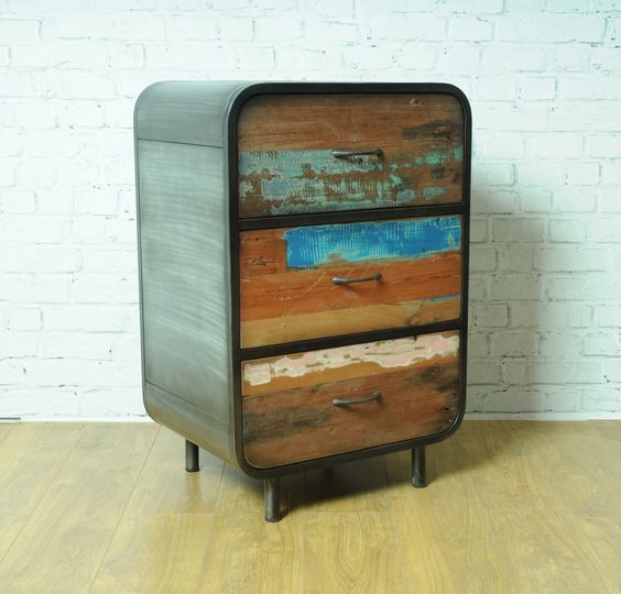 Reclaimed Boat Wood High Dresser Looking For Recycled