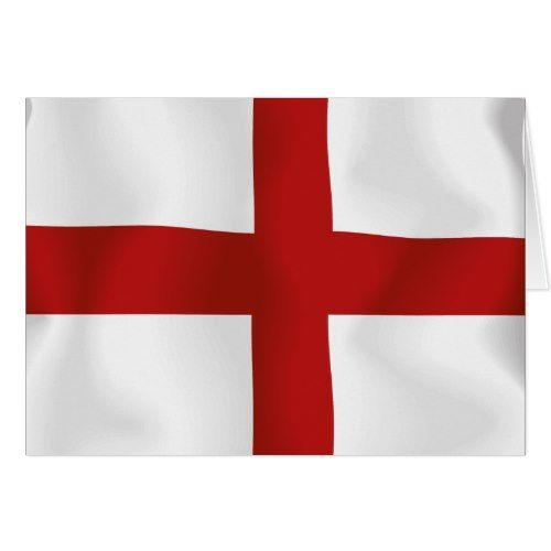 Flag Of England Zazzle Com England Flag Flag Custom Greeting Cards