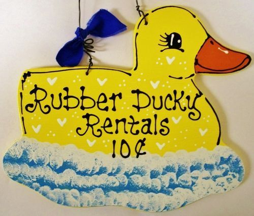 Cute 7x9 Rubber Ducky Rentals Sign Bath Bathroom Yellow Duck Plaque Kids Decor Ebay Rubber Duck Bathroom Duck Bathroom Rubber Ducky Bathroom