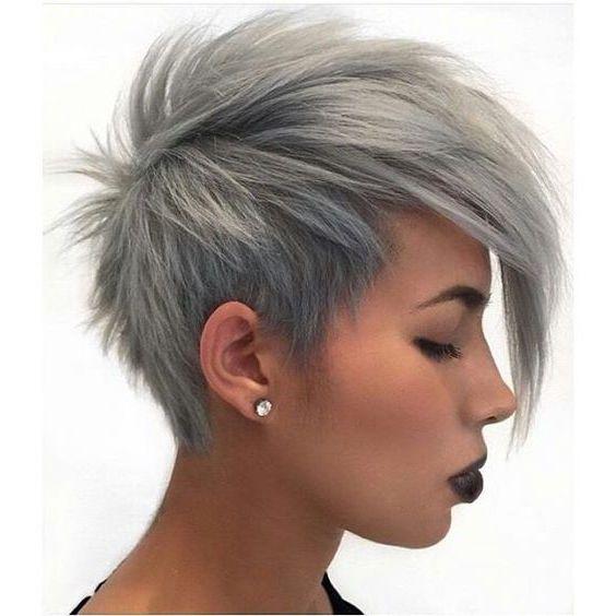 Ausgefallene Frisuren Mit Undercut Graue Haarfarben Haarfarben Kurzhaarfrisuren