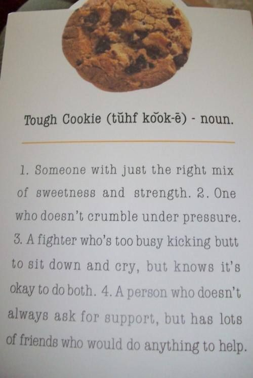 "cute way to send ""hang in there"" message (accompanied by some homemade chocolate chip love!!!)"