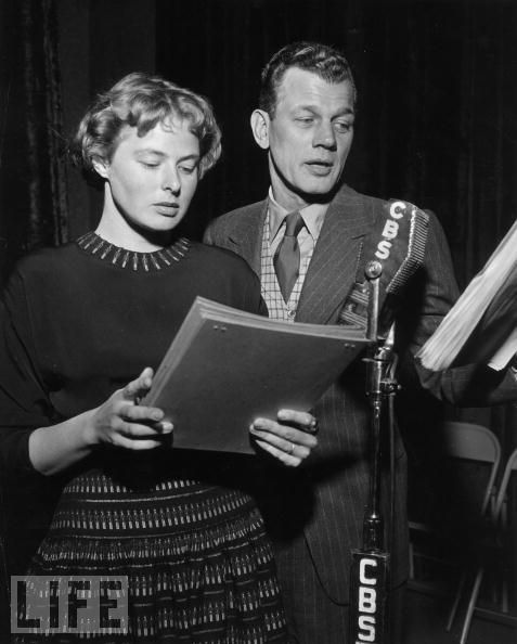 Joseph Cotten and Ingrid Bergman. by shadees, via Flickr: