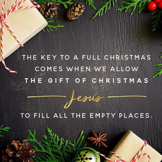 The key to a full Christmas? It's not how much you can cram into your schedule or under your tree. It's not even the amount of good you can do or peace you can feel. The key to a full Christmas when we allow Jesus to fill the empty places in our soul and lives.: