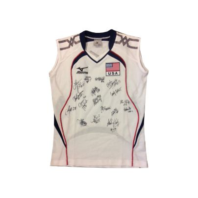 Top 3 prize, signed USA Volleyball National Team jersey. (All jerseys white, sizes not guaranteed in stock)