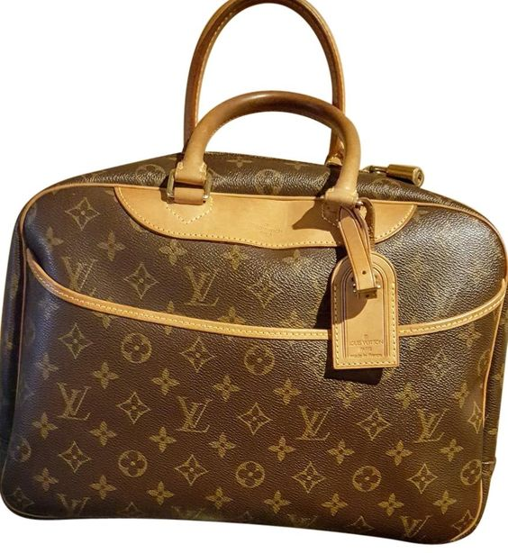 Louis Vuitton Deauville Brown Travel Bag.