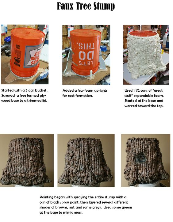 Journey off the Map - Faux Tree Stump Instructions | Shrek ...