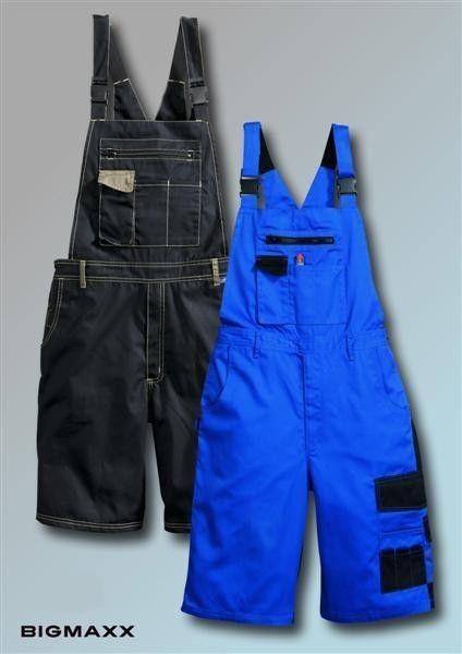 KORSAR Latz-Bermuda Arbeitshose, Latzhose blau oder schwarz bis Gr. 64