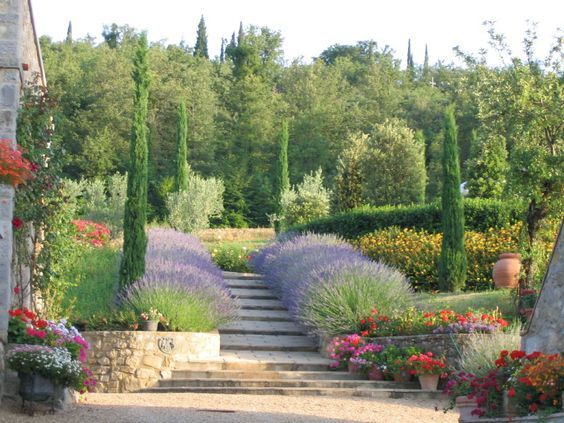 Bildergebnis Fur Toskana Garten Toskanischer Garten Mediterrane Gartengestaltung Mediterraner Garten