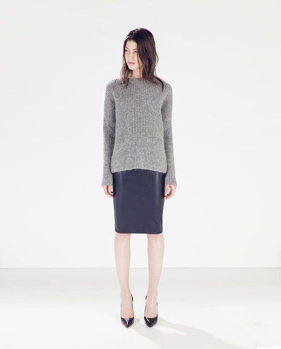 Navy Leather Skirt | Jill Dress