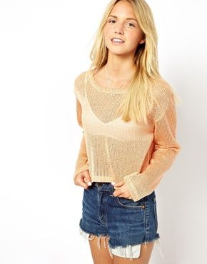 ASOS Crop Top in Loose Knit