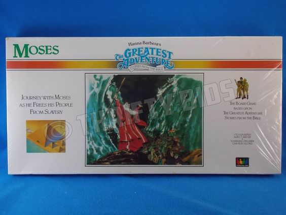 Hanna Barberas The Greatest Adventure Stories from the Bible MOSES Board Game NW #InternationalGamesInc