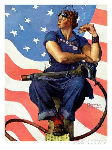 """Rosie the Riveter"", May 29,1943 reproduction procédé giclée par Norman Rockwell sur AllPosters.fr"