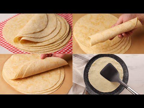 خبز التورتيلا لسندوتشات الشاورما و كل أنواع السندوتشات ينافس الجاهز وبقوة Youtube Cooking Recipes Cooking Food