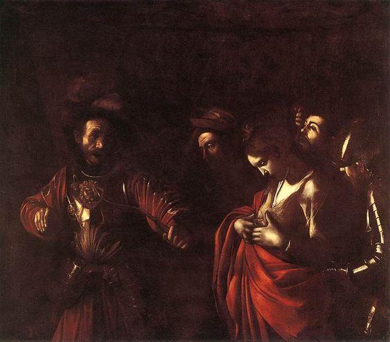 """Caterina"" as Saint Ursula - Caravaggio, 1610"