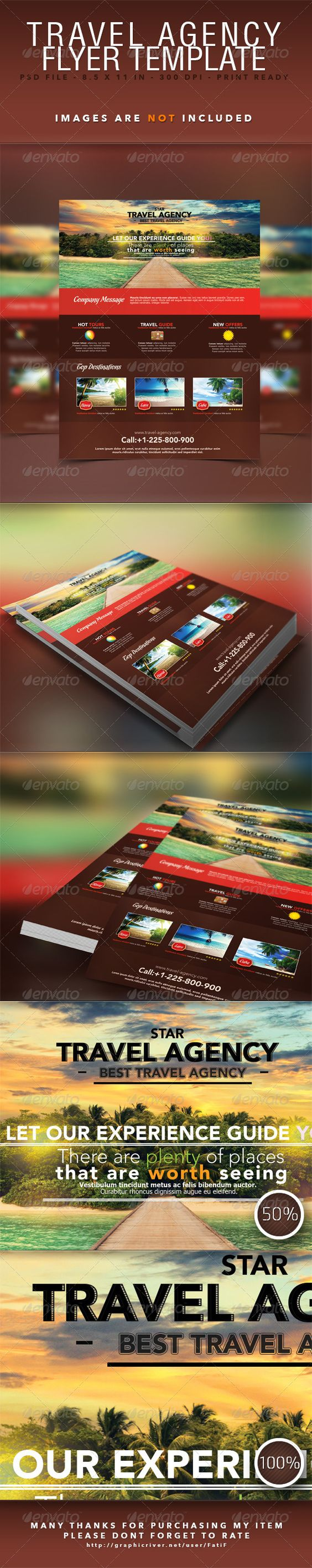 Travel Agency Flyer Template - Corporate Flyers