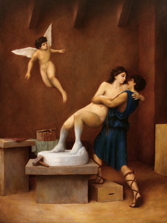 Lasarasu on deviantArt - Pygmalion and Galatea. Tags: pygmalion, galatea, transformations,