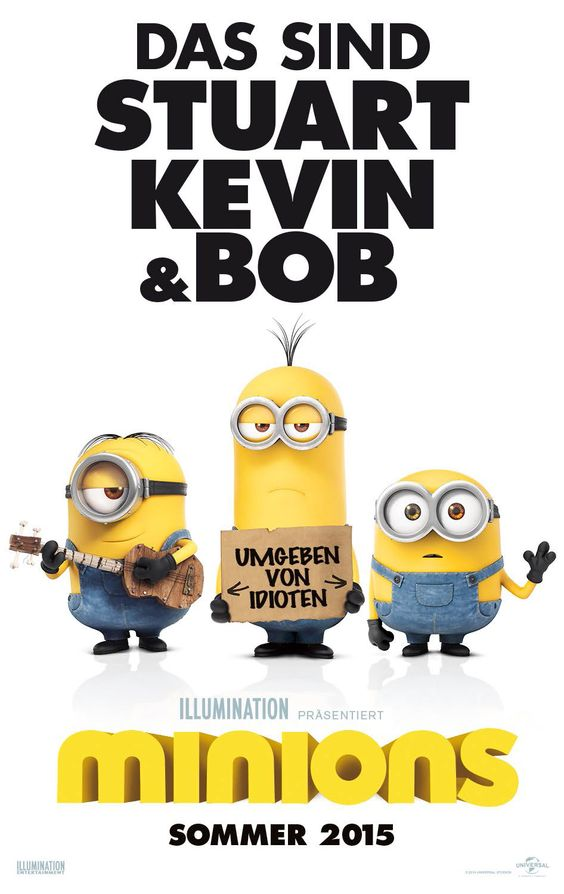 Minions Film Poster (Deutsch). #Minions #MinionsMovie #DespicableMe