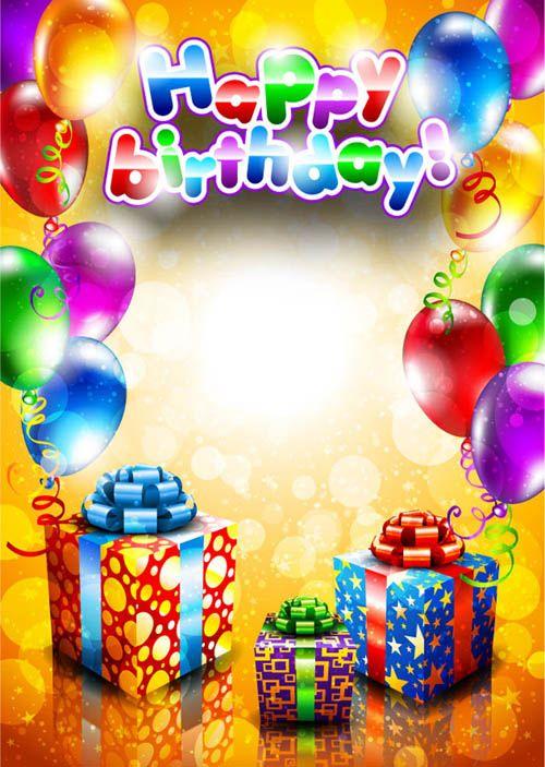 Free Birthday Cards | Set of Happy birthday postcards design ...