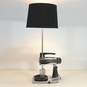 Por si no saben que hacer con sus electrodomesticos viejos  Sunbeam Mix Master Mixer Lamp II now featured on Fab.