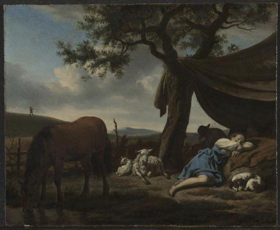 adriaen van de Velde 1663 Sleeping Shepherds Cleveland