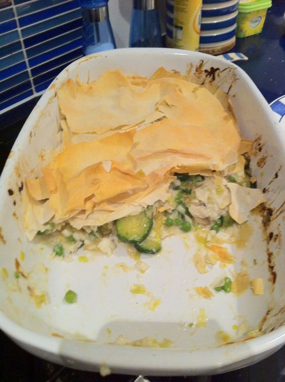Filo fish pie