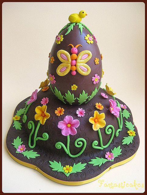 Easter Egg Cake.Wish I could make this.