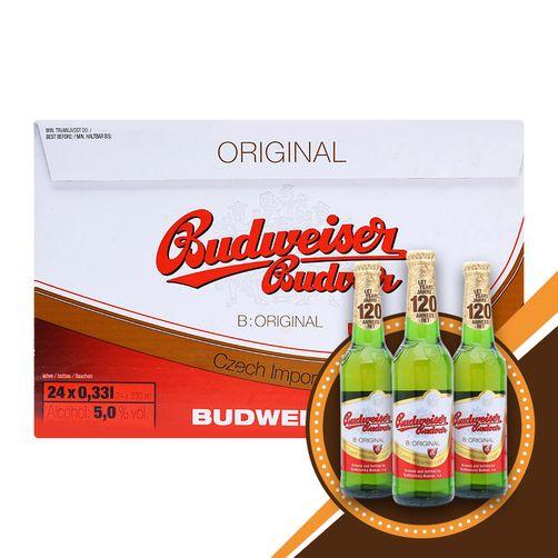 Bia Budweiser Budvar Original 5% - Chai 330ml