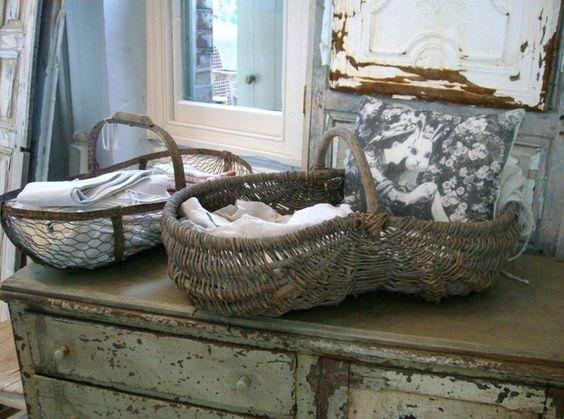beautiful old baskets: