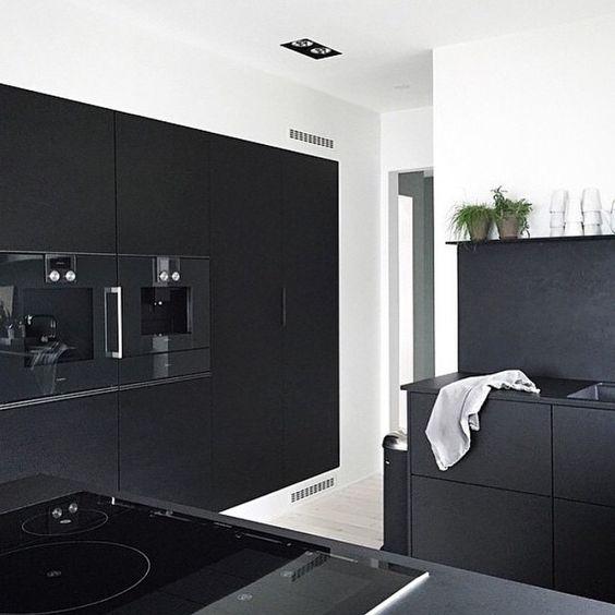 b w #ninaholst #kitchen #kitchendesign #joinery #blackkitchen #mattblack #blackonblack #monochrome #blackandwhite #bw #minimalism #minimalist #simplicity #interiors #interiordesign #design #homedecor #interiorstyle