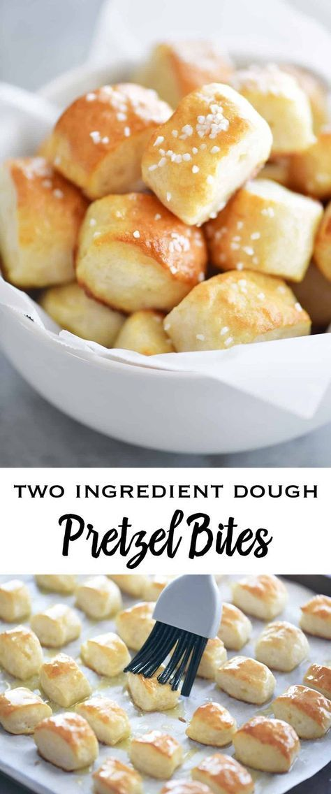 Two Ingredient Dough Pretzel Bites
