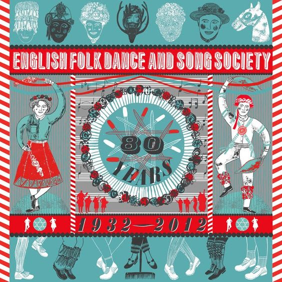 80 years of the english folk dance and song society, for cecil sharp house in london - illustration by alice pattullo