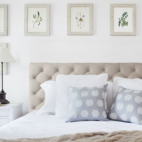Blue Throw Pillows Bedhead And Quilted Headboard On Pinterest