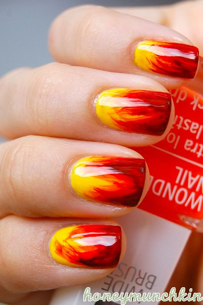 Fire nails  Perfect for Hunger Games: Catching Fire