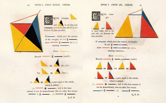 Six Books of Euclid, inside pages. Saw this in the MoMA Store and fell in love. $38 on Amazon. #math