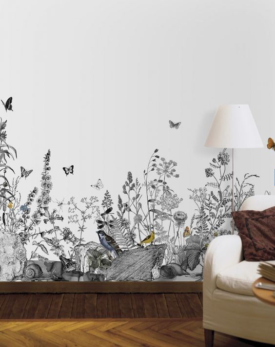 Would love t paint this on a nursery wall for an outdoors/nature theme