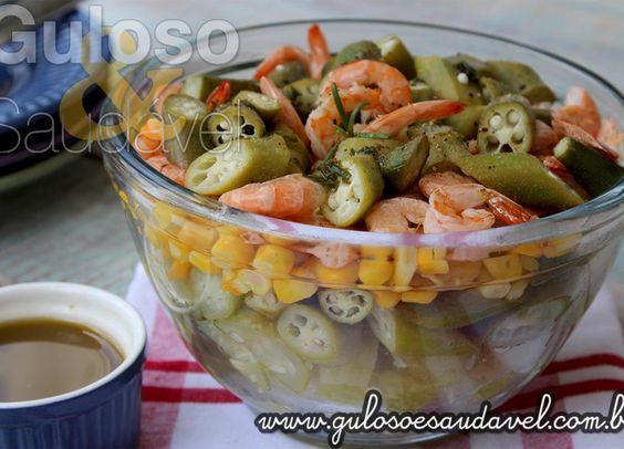 Salada de Quiabo com Camarão