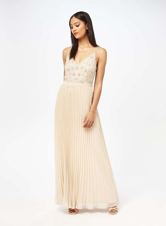 Embellished Pleat Maxi Dress - View All - Dress Shop - Miss Selfridge