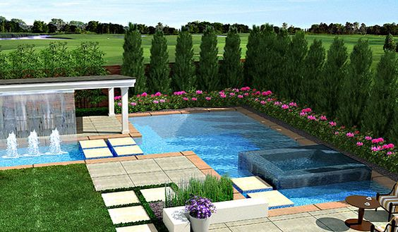 I love this contemporary look.  Google Image Result for http://www.landscapingideasforbackyard.com/images/Modern-Backyard.jpg