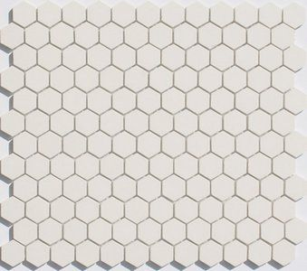 Lyric Unglazed Porcelain Hexagon Mosaic Tile in Chalk - NON BEVELED. Really  great tile shop - tells what to