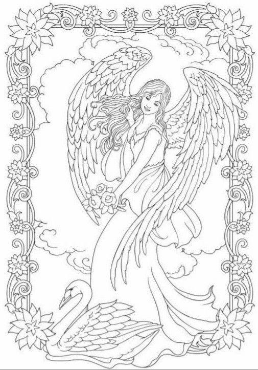 Pin By Mythrana On Kleurplaat Fatasie Angel Coloring Pages Fairy Coloring Pages Coloring Pages