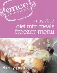 Freezer cooking diet menu - 5 recipes, 10 dinners. So easy.