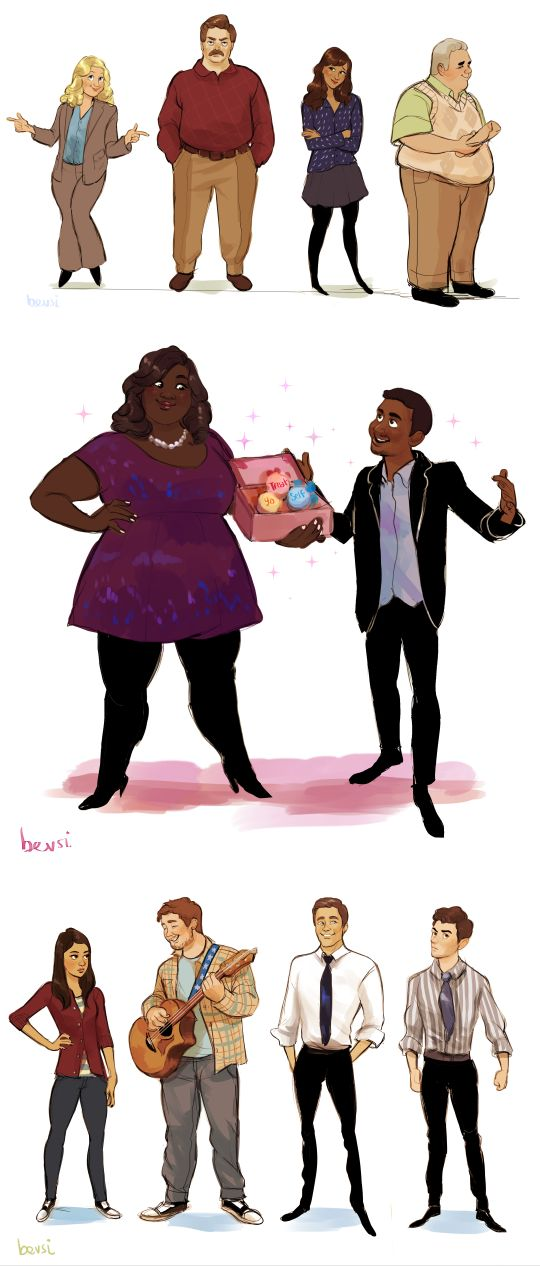 Parks and Rec characters
