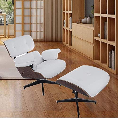 New Mophorn Lounge Chair Ottoman Mid Century Modern Replica Style Recliner Chair High Grade Pu Leather Recliner Armchair Foot Stool White Online Newtrendylo In 2020 Reclining Armchair Lounge Chair Leather Recliner